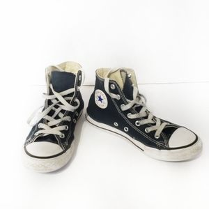 Converse sneakers hi top shell toe black size 3